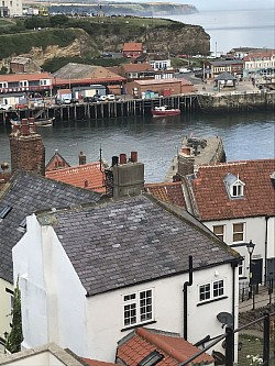 View of Whitby from top of hill.