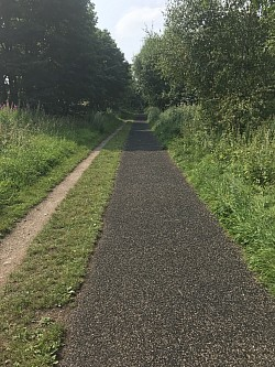 Pathway at Penistone Trans Pennine Trail.